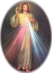 Imagem pintada, recebida em visão mística, por Santa Faustina Kowalska.