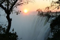 Sunset Over Victoria Falls - Photo by:Adam Annfield - Wikicommons