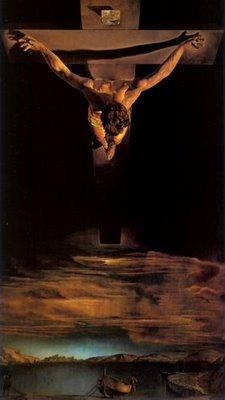 Pintura: Salvador Dali (1951). Inspirado em desenho de São João da Cruz.