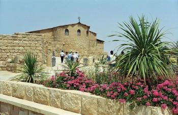 Construída na Antiguidade, no Monte Nebo, vista da Basílica.